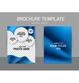 Blue flyer template design vector