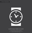 Time premium icon white on dark background vector