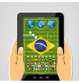 Brazil soccer championship tablet infographic vector
