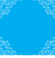 Frame with white floral lace border vector