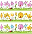 Cartoon summer nature scene vector