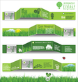 Modern ecology infographic design vector