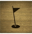 Golf flag flat modern web button and space for vector