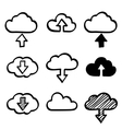 Hand draw doodle cloud shapes collection icons for vector