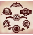 Grunge scratched badges vector