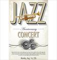 Jazz concert poster vector