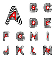 Design abc letters from a to m vector
