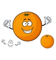 Cartoon funny juicy orange fruit vector