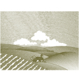Rural farm scene vector