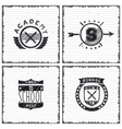 Set of school emblems vector