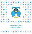 Owl blue vector