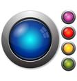 Glass buttons vector
