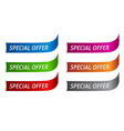 Sticker on six different color variations vector