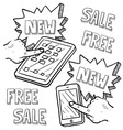 Doodle iphoneish ipadish sale new free vector