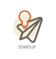 Start up trendy for new businesses vector