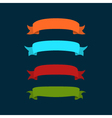 Colored ribbons on a dark background vector