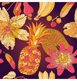 Pattern hibiscus tropical flowers vector