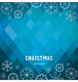 Christmas and new year rhombus background vector