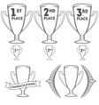 Set of cups and crowns vector