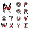 Design abc letters from n to z vector