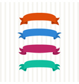 Colored ribbons on a light background vector