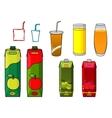 Apple juice design elements in cartoon style vector