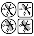 Hairdresser symbols vector