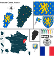 Map of franche comte vector