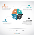 Gear infographics vector