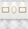 Gray room with frames vector