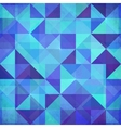 Abstract triangles blue background vector