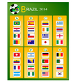 A chart of soccer tournament in brazil 2014 vector
