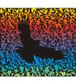 Abstract predator bird and its prey vector