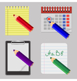 Business and college icons vector