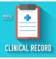 Flat clinical record background concept vector