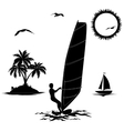 Set of elements vacation in the tropics vector