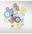 Colorful abstract cogs - gears vector