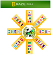 Eight group of soccer tournament in brazil 2014 vector