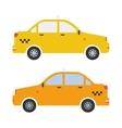 Graphic taxi car flat design vector