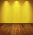 Yellow vintage room vector