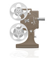Old retro movie film projector 01 vector