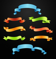 Set of full colors ribbons vector