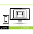 Modern laptop glossy tablet and smartphone vector