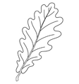 Leaf of oak tree contour vector
