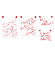 Day of valentine notes vector