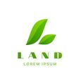Letter l eco leaves logo icon design template vector
