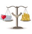 Scales choice health or money vector