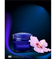 Blue jar of cream vector