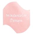 Watercolor peach color vector