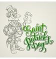 Leprechaun st patricks day vector